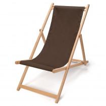 transat chilienne en bois et tissu pour le jardin et la plage