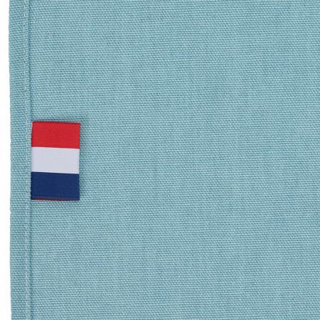 Toile de Transat en Coton Bleu Pastel France