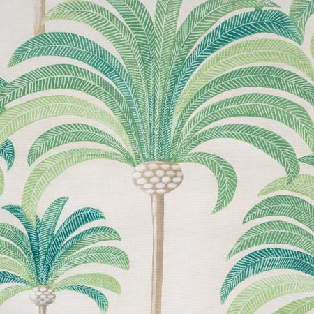 Transat de jardin, acacia et toile en coton palmier vert