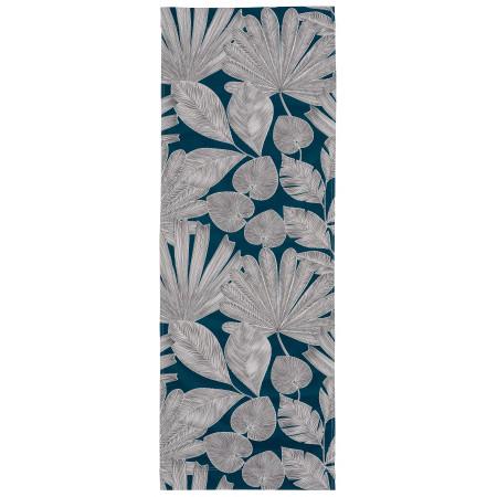 Transat de jardin, acacia et toile en coton feuilles panama 2