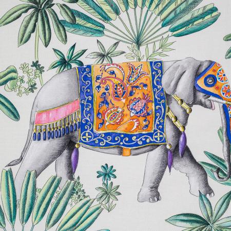 Transat de jardin, acacia et toile en coton India 3