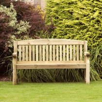 Banc de jardin en bois 3 places longueur 1m50