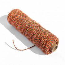 Ficelle Décorative 3 Couleurs , Fil Coton 2 mm 100 m