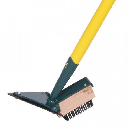 Grattoir pour le nettoyage et désherbage des joints de dalles du jardin, pointue avec brosse
