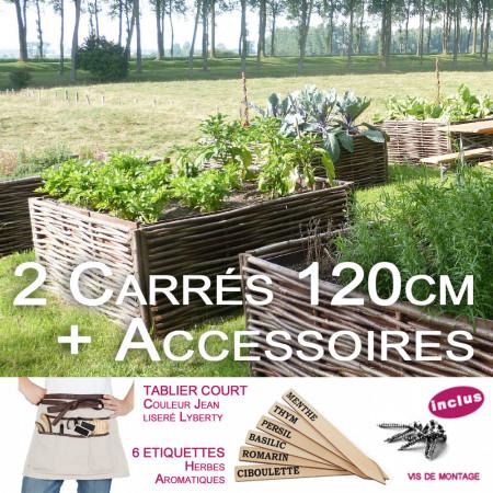 Carre potager herbes aromatiques de Provence 120x120