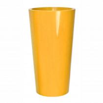 Pot Deco Exterieur en plastique Jaune h:61cm