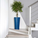 Pot de Jardin en Plastique Bleu h:61cm