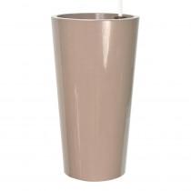 pot haut pour extérieurs et jardins, en plastique non toxique pastel-rose