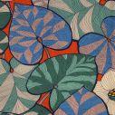 Transat Hêtre Saturé Idris feuilles et fond rouge