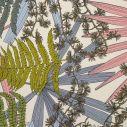 toile imprimée feuilles et fougères Forêt Rose