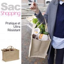 Sac Cabas en Toile 48l, courses et shopping