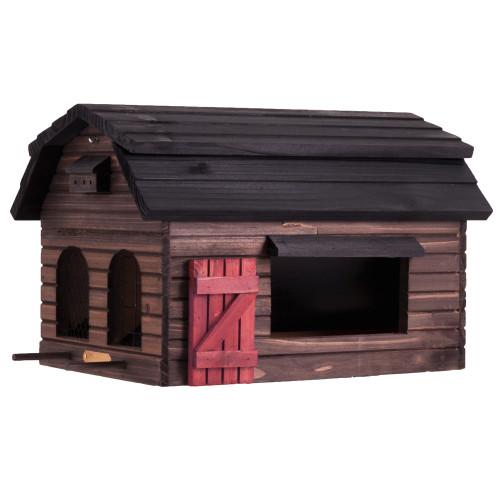 mangeoire à oiseaux, maison en bois