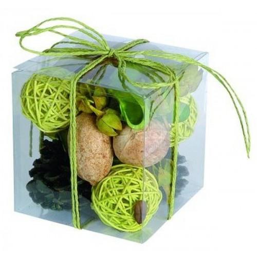 Boîte déco naturelle vert