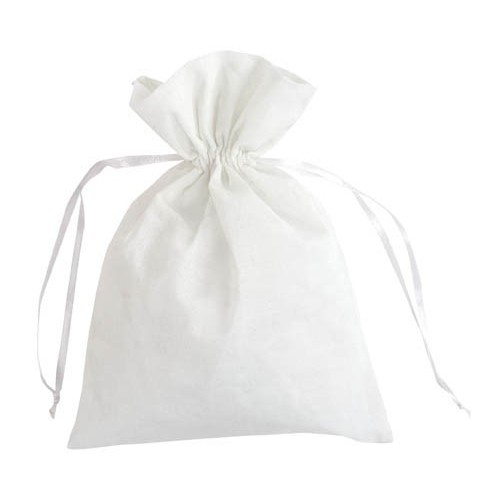Sachet coton blanc