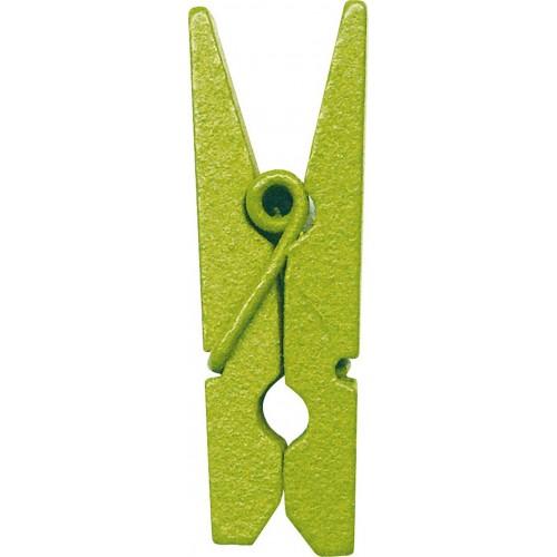 Mini pince en bois vert