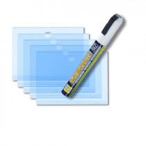 5 étiquettes acryliques transparentes