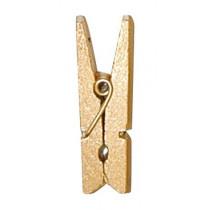 Mini pince en bois métalisée