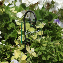 Etiquette acrylique translucide vert d'eau