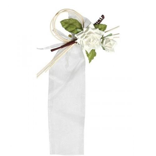 4 sachets dragées tube sur piquet fleur