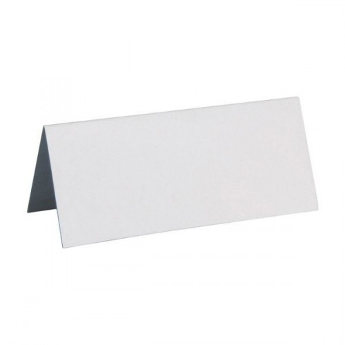 Marque-place rectangle blanc