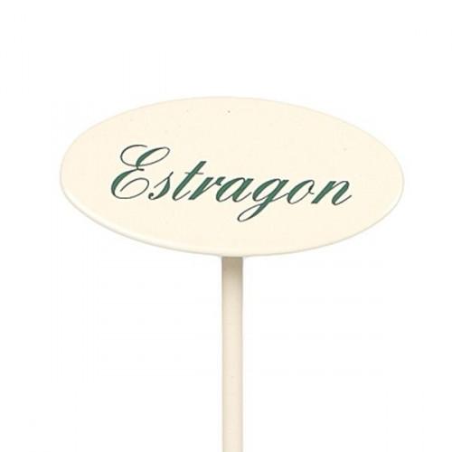 Etiquette jardin en métal Estragon