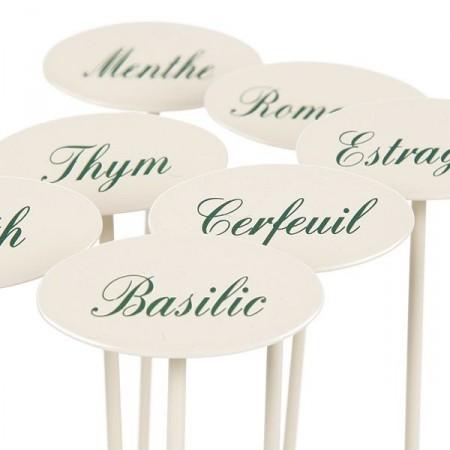 Etiquette jardin en métal Basilic
