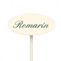 Etiquette jardin en métal Romarin