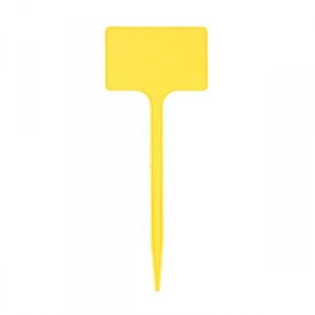 5 Etiquettes polypropylène jaune - 20 / 5x8cm