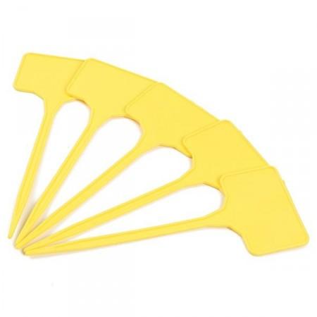 5 Etiquettes polypropylène jaune - 15 / 3,5X5,5cm