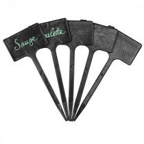 5 Etiquettes polypropylène noires -  20 / 5x8cm