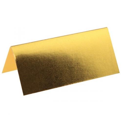 Marque-place rectangle métallisé