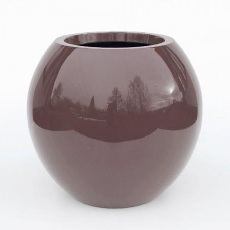 Pot noir anthracite exterieur jardin Manacor h:125cm