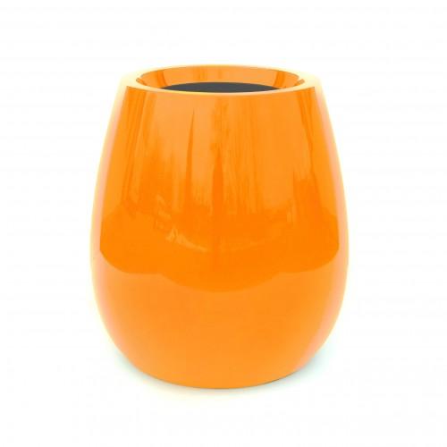 Pot Design Laqué Silba h:100cm - orange