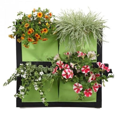 Mur Végétal 4 Poches Vert