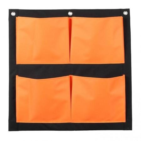 Mur Végétal 4 Poches Orange