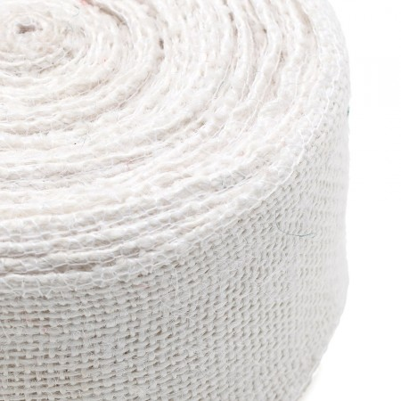 Bande de jute blanc pur 10mx6cm