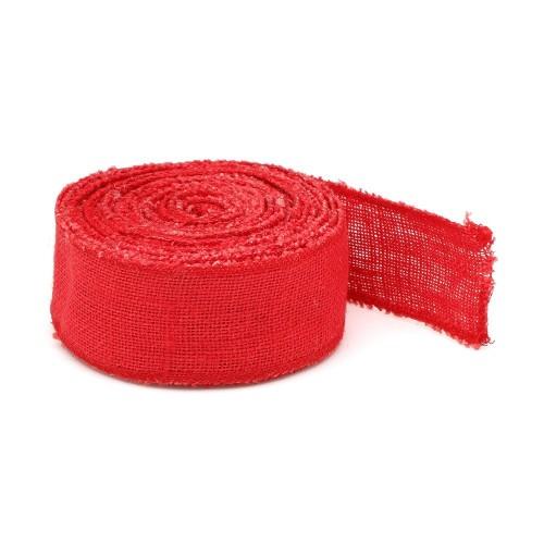 Bande de jute rouge 10mx6cm