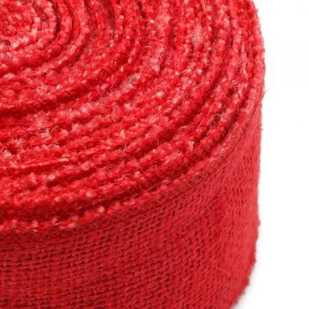 Bande de jute Rouge2 10mx6cm
