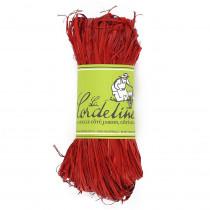 Raphia rouge cerise 50 g
