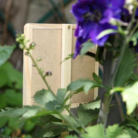 Etiquette marque plante bois et ardoise carrée