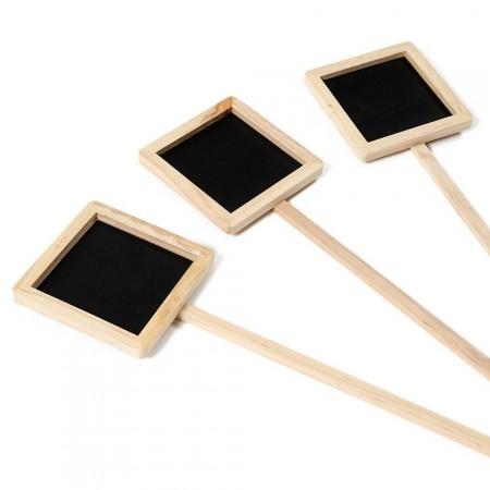 marque plante bois et ardoise carrée -2