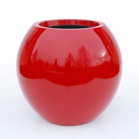 Pot Rouge Laqué Manacor h:125cm exterieur