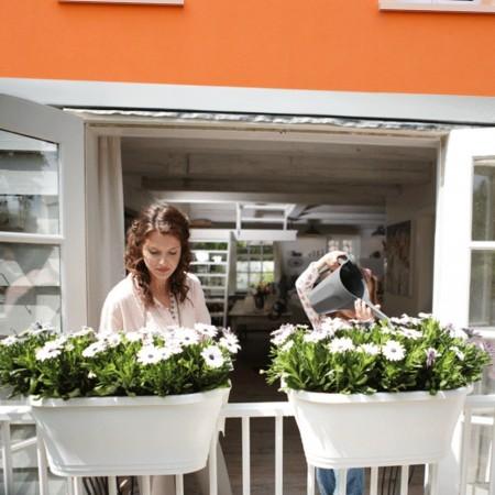Jardinière Balcon 2 faces Blanche