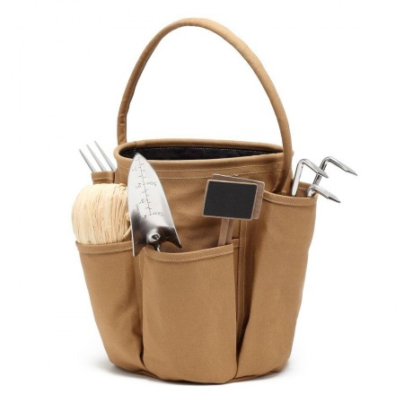 sac de transport pratique - materiel jardinage accessoire jardin - sac multi poche caramel