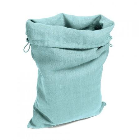 Sac en toile Gris Bleu Turquoise  Fermeture à Lacet