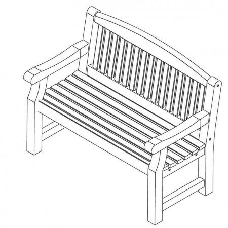 Banc de jardin bois - Mobilier de jardin 1m22