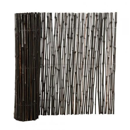 Brise Vue Bambou Déco noir 1