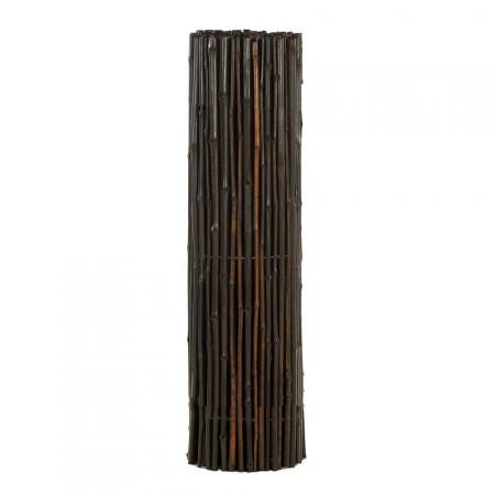 Brise Vue Bambou Déco noir - rouleau