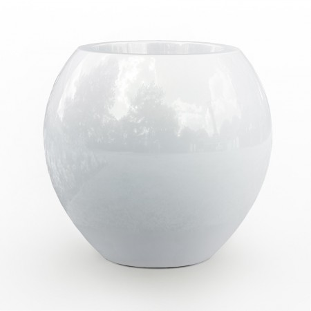 Grand Pot Design h:125cm -blanc