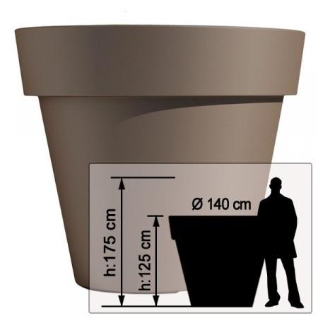 Pot de Fleur Geant 140cm Ikon - Dimensions